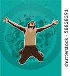 abstract people   vector...   Shutterstock .eps vector #58828291