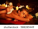 spa gifts of woman massage in... | Shutterstock . vector #588285449