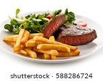 Grilled Steak  French Fries And ...