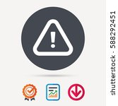 warning icon. attention... | Shutterstock .eps vector #588292451
