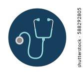 stethoscope medical isolated...   Shutterstock .eps vector #588292805