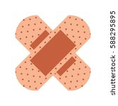cure band first aid icon   Shutterstock .eps vector #588295895