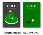 golf tournament poster design... | Shutterstock .eps vector #588295991