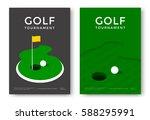golf tournament poster design... | Shutterstock .eps vector #588295991