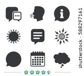 chat icons. comic speech bubble ... | Shutterstock .eps vector #588297161