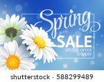 spring sale concept. summer... | Shutterstock .eps vector #588299489