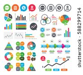 business charts. growth graph.... | Shutterstock .eps vector #588299714