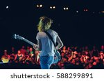 guitarist on stage opposite the ... | Shutterstock . vector #588299891