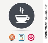 coffee cup icon. hot tea drink... | Shutterstock .eps vector #588303719