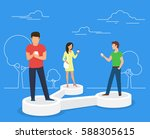 share data concept illustration ... | Shutterstock .eps vector #588305615
