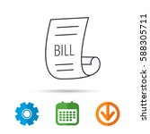 bill icon. pay document sign.... | Shutterstock .eps vector #588305711