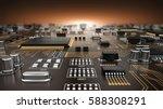 high tech electronic pcb ... | Shutterstock . vector #588308291