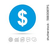 dollars sign icon. usd currency ... | Shutterstock .eps vector #588308591