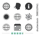 iso 9001 and 14001 certified... | Shutterstock .eps vector #588310961
