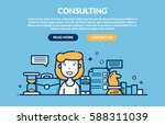 consulting concept for web page.... | Shutterstock .eps vector #588311039