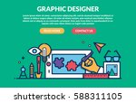 graphic designer concept for