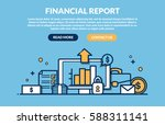 financial report concept for... | Shutterstock .eps vector #588311141