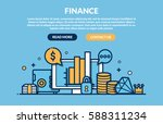 finance concept for web page.... | Shutterstock .eps vector #588311234