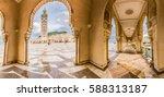 famous mosque hassan ii in... | Shutterstock . vector #588313187
