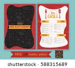 vector grill barbeque... | Shutterstock .eps vector #588315689