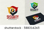 security company logo design... | Shutterstock .eps vector #588316265