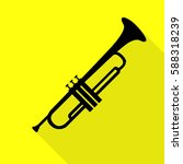 musical instrument trumpet sign.... | Shutterstock .eps vector #588318239