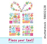 decorative gift box formed by... | Shutterstock .eps vector #58832128