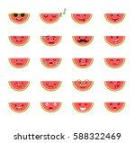 emoticons food vector set.... | Shutterstock .eps vector #588322469