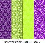 set of geometric seamless...   Shutterstock .eps vector #588325529