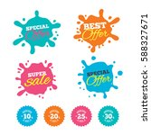 best offer and sale splash... | Shutterstock .eps vector #588327671