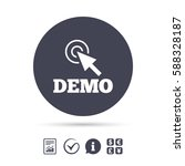 demo with cursor sign icon....   Shutterstock .eps vector #588328187
