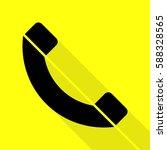 phone sign illustration. black...