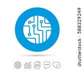 circuit board sign icon.... | Shutterstock .eps vector #588329249