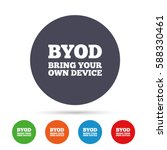 byod sign icon. bring your own... | Shutterstock .eps vector #588330461