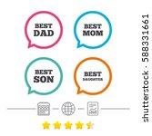best mom and dad  son and... | Shutterstock .eps vector #588331661