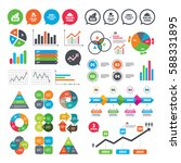 business charts. growth graph.... | Shutterstock .eps vector #588331895