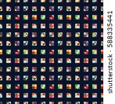 colorful seamless geometric...   Shutterstock .eps vector #588335441