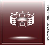 stadium sign icon  vector... | Shutterstock .eps vector #588335681