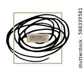 hand drawn swirls line. helix... | Shutterstock .eps vector #588339581