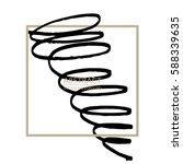 marker lines. hand drawn swirls ... | Shutterstock .eps vector #588339635