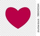 heart sign illustration. vector.... | Shutterstock .eps vector #588340364