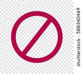 empty ban sign. vector. bordo... | Shutterstock .eps vector #588340469