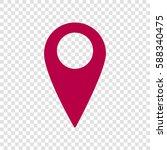 map pointer sign. vector. bordo ... | Shutterstock .eps vector #588340475