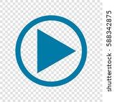 play icon illustration. vector. ... | Shutterstock .eps vector #588342875