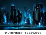 night city background | Shutterstock . vector #588343919