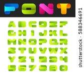 abstract friendly alphabet font ...   Shutterstock .eps vector #588346691