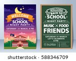 invitation of back to school... | Shutterstock .eps vector #588346709