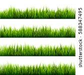 Grass Banners Set. Nature...