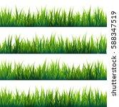 grass banners set. nature... | Shutterstock .eps vector #588347519
