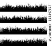 grass banners set. nature... | Shutterstock .eps vector #588347537